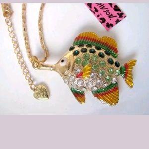 New Betesy Johnson tropical fish necklace